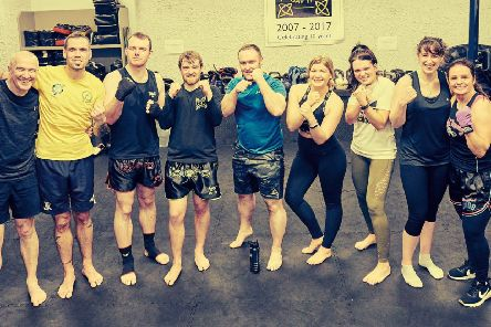Some of the bootcampers after the final Muay Thai session last week.