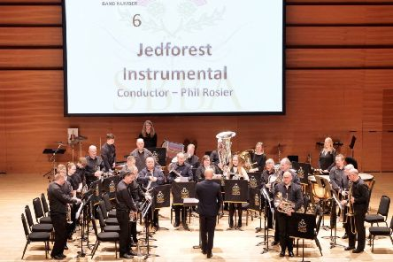 Jedforest Instrumental Band compete in Perth at the Scottish Brass Band Championships.