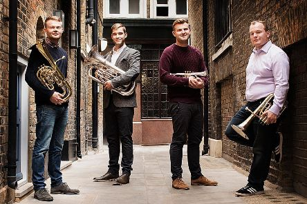 On Friday,  March 22  in the Melrose Parish Church Hall, the A4 Brass Quartet will hold a concert of music, sponsored by the Tunnell Trust, by classical and contemporary composers from Mendelssohn and Goedicke to Grainger and Jonathan Bliss.