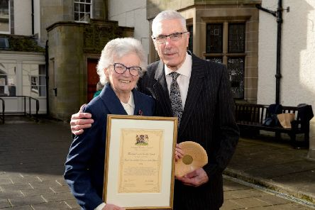 Tweeddale Citizens of the Year Mike and Sheila Stark in Peebles.