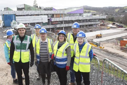 A group of Jedburgh residents are given a tour of the new intergenerational campus as as part of Open Doors Day.