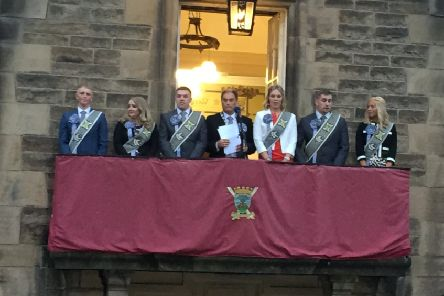 2019 Braw Lad and Braw Lass Robbie Lowrie and Nicola Laing are announced in Galashiels.