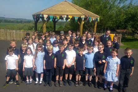 Children, families and the wider community at Morebattle primary school last Friday celebrated the opening of its outdoor classroom.