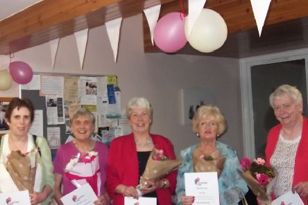 A Selkirk retirement housing development has recognised the contribution of its volunteers as part of a nationwide celebration.'Bield's Mungo Park Court complex held an event with tenants, staff and local public figures to show its appreciation for the work and dedication of members of the local community as part of Volunteers' Week.'Five volunteers ' who boast a combined total of 55 years of experience lending a hand at the development ' were presented with flowers and a certificate. Pictured, from left, Janette Stone (Bield board member) with volunteers Helen Given, Maisie Mackenzie, Cathy Borwick, Avril Best and Sheila Waugh.