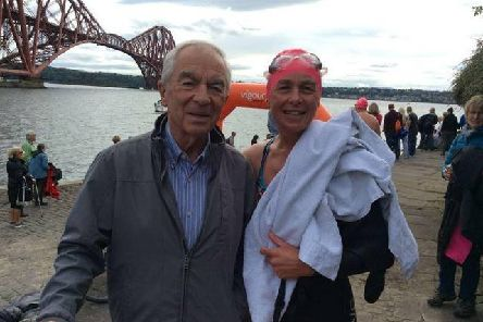 Caroline Connor with her dad Raymond Currie.