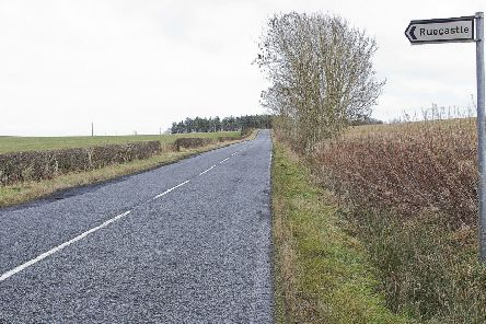 The B6358 Dunion road between Jedburgh and Hawick.
