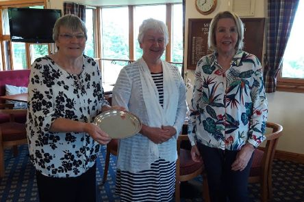 Past Captain's Trophy winner at Minto Golf Club - Joyce Michie, with Anne Paterson and Margaret Magson.