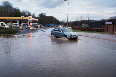 Flooding at Jedburgh last year.