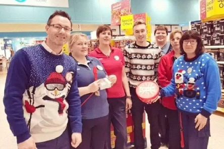 Christmas has come early for a group of Galashiels Tesco workers who are hosting a festive fundraiser for the town's winter lights appeal.'Staff will be donning their Christmas jumpers and singing along to carols tomorrow (Friday) and Saturday.