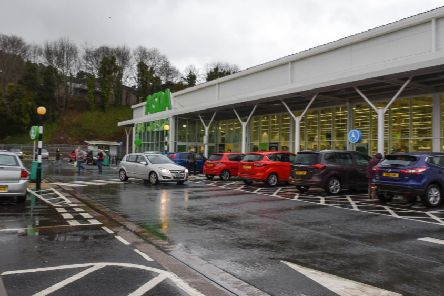 The Asda supermarket in Galashiels.