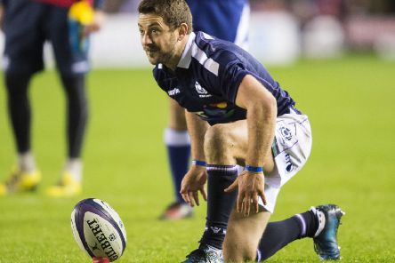 Greig Laidlaw returns to captain Scotland against France in Edinburgh on Saturday (library picture by Ian Rutherford).