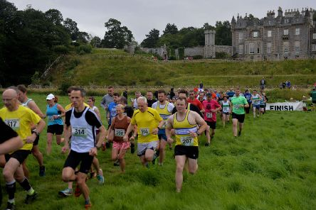 The Abbotsford House trail races near Melrose attracted a large number of runners (picture by Alwyn Johnston)