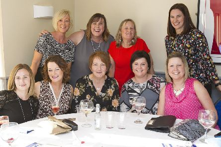 Lorraine Lauder, Wendy Stewart,  Joy Campbell, Denise Adams, Amy Wright, Clare Turnbull, Pauline Watson, Debbie Aughinleck, Julie Thomson.
