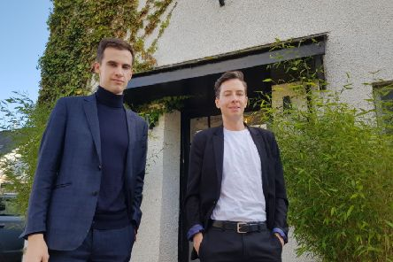 Kyle Tidd and his husband Hamish Carruthers, owners of the Hoebridge in Gattonside.