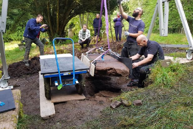1,200-year-old Pictish stone at church site is 'once-in-a-lifetime find'
