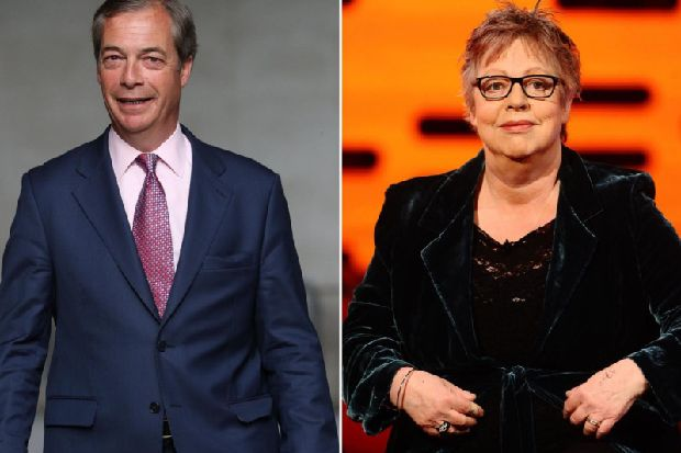 Jo Brand cleared of inciting violence against Nigel Farage with battery acid joke