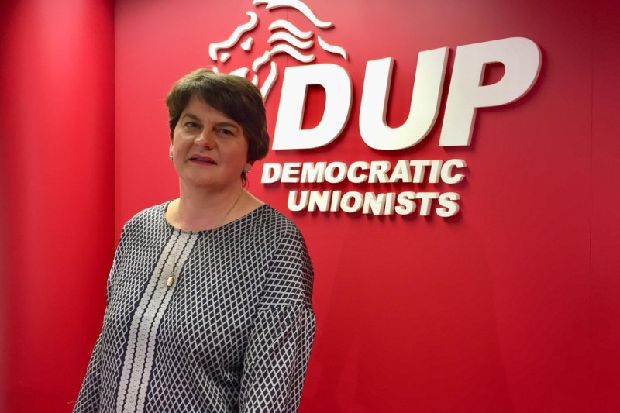 DUP leader Arlene Foster denies Brexit deal with Boris Johnson