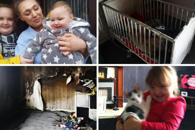 Young mum of two loses everything in West Lothian house fire, including pet cat Sparkles