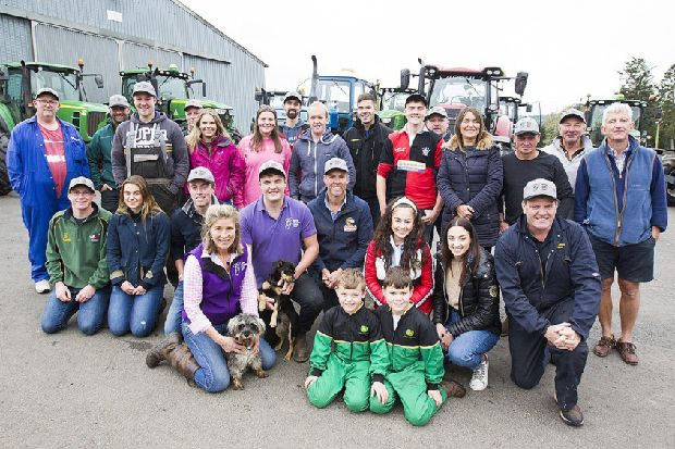 Teviotdale young farmers in tractor memorial for tragic pals