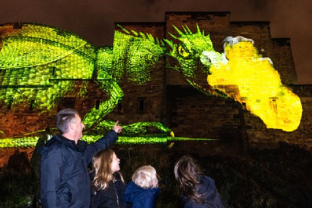 Dragon vision will be beamed onto Edinburgh Castle in city's 'biggest ever' sound and light experience
