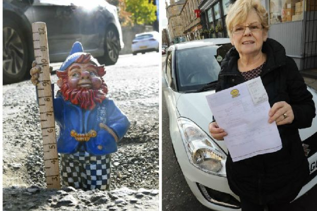 Edinburgh driver left with repair bill after 'frightening' 10-inch pothole drama