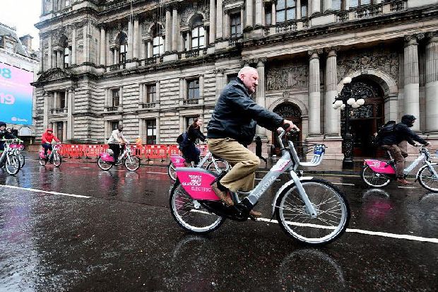 Electric bikes being hired twice as much as standard bikes at month-old Glasgow rental scheme