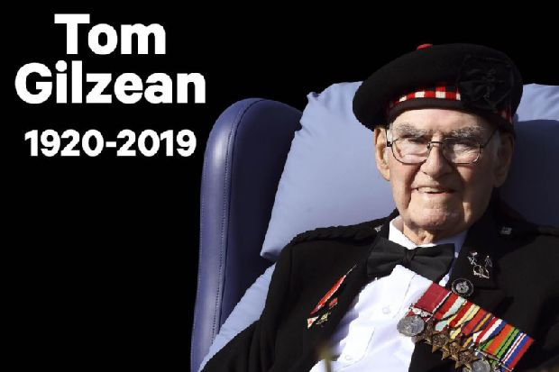 Tom Gilzean funeral: Pictures show poignant moments before Edinburgh war veteran and charity hero was laid to rest