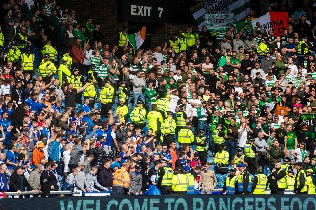 How Celtic and Rangers average attendances compare over the decade