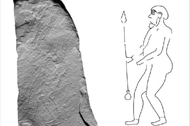 Elite spear-carrying Pictish warrior emerges - with bold hair, a necklace and tight leggings