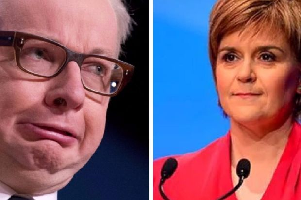 """Michael Gove echoes Dad's Army as he blasts SNP: """"They don't like it up 'em"""""""