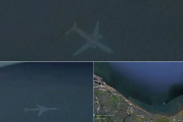Mystery of Google Maps 'underwater plane' near Edinburgh solved