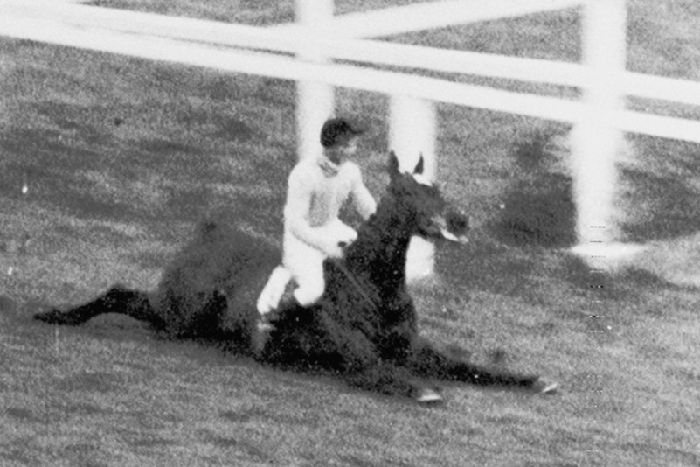 Devon Loch jumped a 'phantom fence' in 1956 and lost at the last.