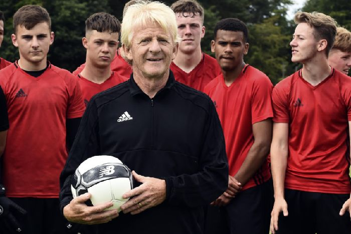 d857a59492cd7 Gordon Strachan has brought a team of youngsters to the Capital combining  education and football.