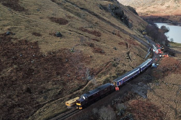 Train derailment in Lochaber caused by rapid thaw of snow - The Scotsman