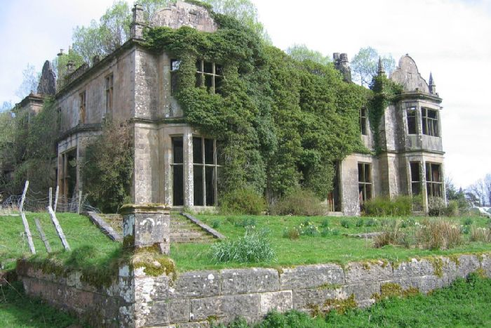Poltalloch House, Kilmartin, Argyll cost the equivalent of �10m to build as the family flexed its wealth and prestige - but now the property stands an empty shell. PIC: Creative Commons.