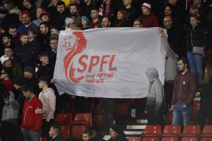 Aberdeen fans hit out at the SPFL over the arrangement of the Betfred Cup semi-finals.