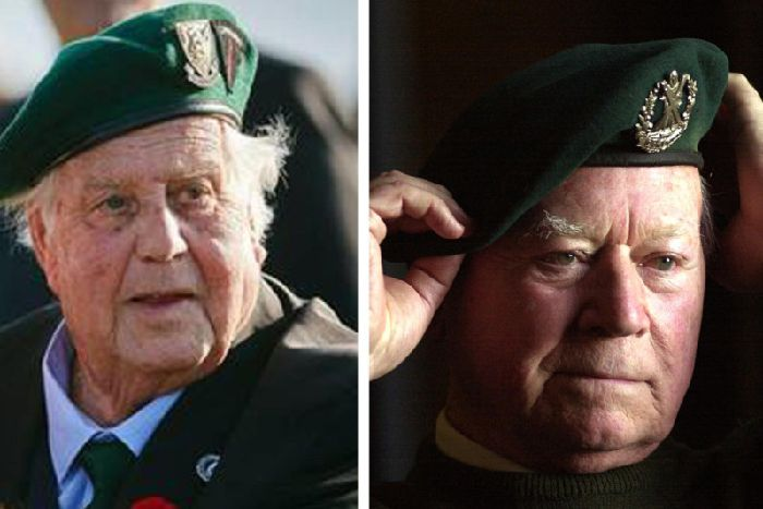 Ren Rossey (left) died in 2016. Bill Millin is pictured in 2001 (right). He died in 2010. PICS: Contributed/PA.