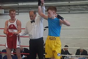 Crawford Campbell of Kilsyth Golden Gloves won gold at the Scottsh Novice Championships