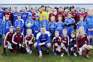 The line-up of legends who turned out for Chris Donnelly's Testimonial Match