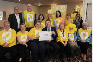 The Glenrothes group celebrated its achievement at the Tipsy Nipper restaurant.