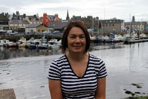 Christina back in Stornoway following her success at setting a new British Veteran Time Trial record.