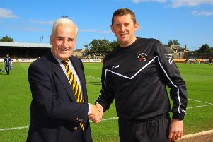 Ousted chairman Len Eyre and Berwick boss Robbie Horn