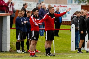 Robbie Horn (right) and assistant David Burrell (left), pictured at Bonnyrigg Rose, have been together for years and have both left Berwick