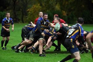 Duns were comfortable winners on the day (seen here in action against Hawick)