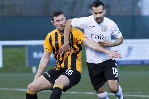 Robert Wilson (left) has been sent off against Cowdenbeath twice this season - despite not picking up as much as a yellow in any other match.