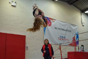 Lizzie Foxton performing a double twist somersault