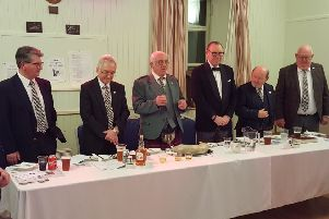 The top table guests at the Whiteadder Burns Club Supper.