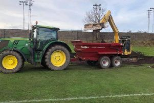 Renovations are well under way at Old Shielfield (Picture: Tweedmouth Rangers)