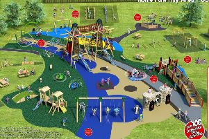 An artist's impression of how the new children's play park at Coldstream's Home Park will look.