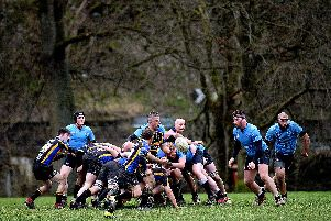 Berwick picked up three injuries in the success over Hawick Harlequins (pictured)